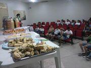 Na parte da manhã rolou um café da manhã comunitário para a criançada do PESS