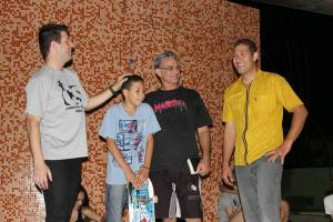 Guilherme no Papo Radical, compartilhando o seu momento e é claro, dando um drop de skate com a galera.