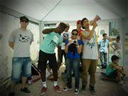Os voluntários do Christian Skaters Brasil em sintonia total.