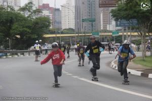 A competição teve seu circuito novo no Parque do Ibirapuera. Mais de 3mil skatistas estavam no dia da corrida. - Foto Christian Skaters Brasil / Ericson Cezar.